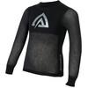 Aclima Kid's Woolnet Shirt Crew Neck Brace Melange/Black